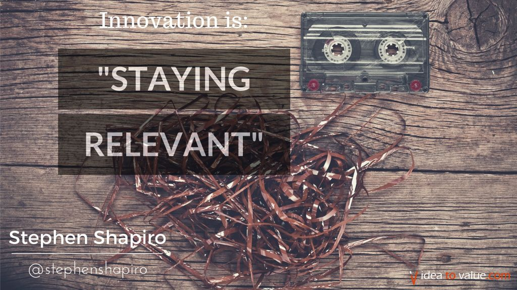 about staying relevant