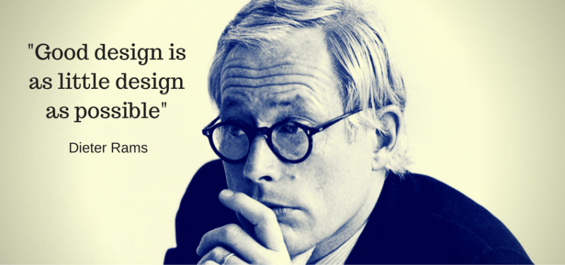 Dieter Rams design philosophy