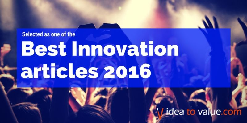Selected as one of the best innovation articles of 2016 by Idea to Value