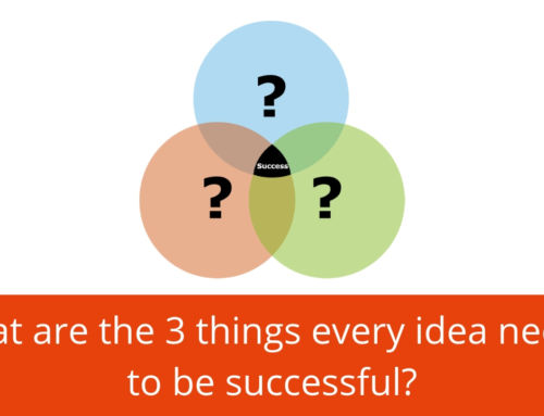 What are the three things every idea needs to be successful? The balanced breakthrough model