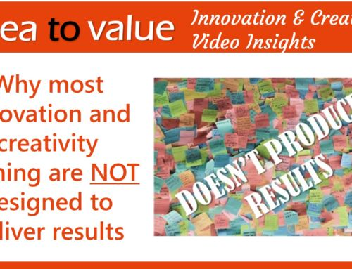 Why most innovation and creativity training are NOT designed to deliver results