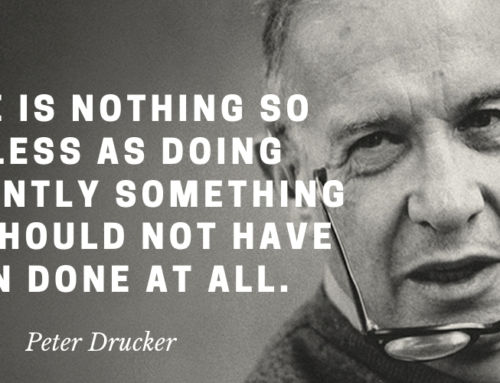Peter Drucker on the importance of doing the right type of work