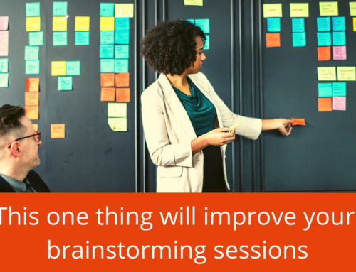 The single best way to improve your brainstorming sessions