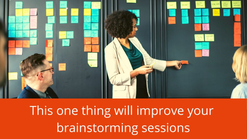 improve your brainstorming sessions