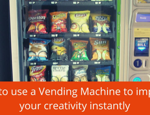 How to use a vending machine to improve your creativity instantly