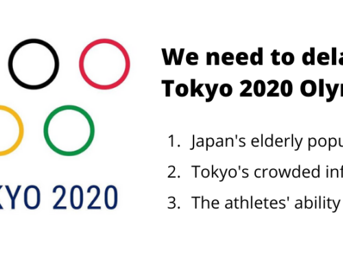 We need to delay the Tokyo 2020 Olympics