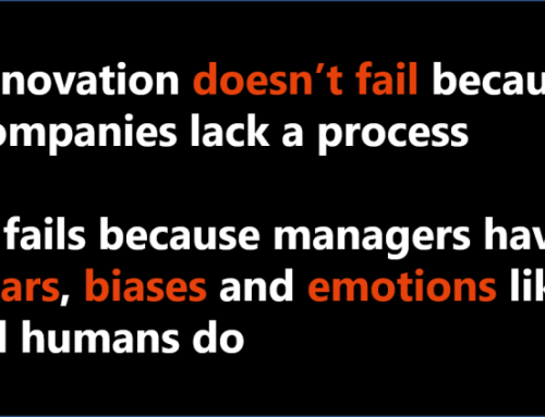 Innovation fails because humans have emotions