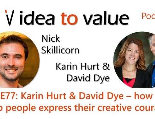Podcast S4E77: Karin Hurt & David Dye – how to help people express their creative courage