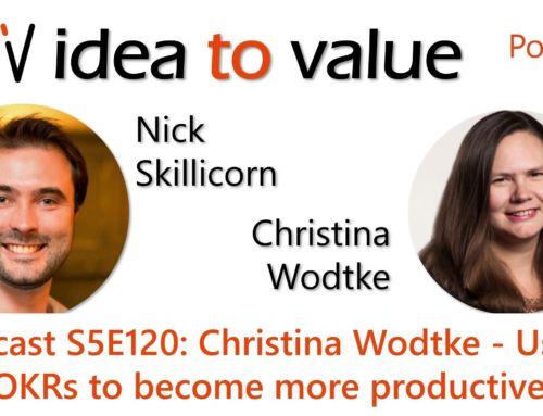 Podcast S5E120: Christina Wodtke – Using OKRs to become more productive